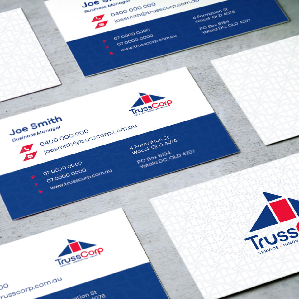 TrussCorp Business Card Design