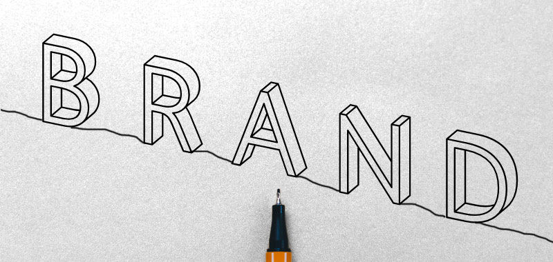 brand illustration with pen