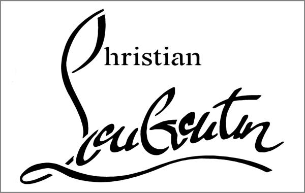 Christian Louboutin high-resolution logo templates