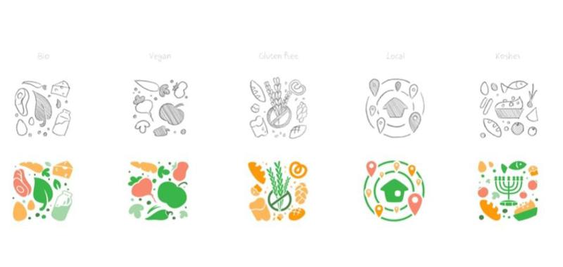 Fun illustrations for Nelio style guide
