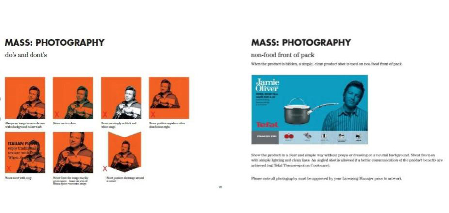 Jamie OIver style guide photography rules
