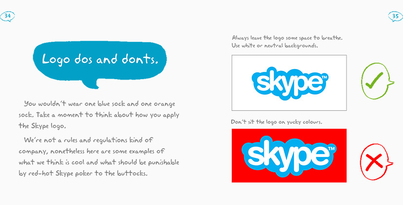 Style Guide Design for Skype