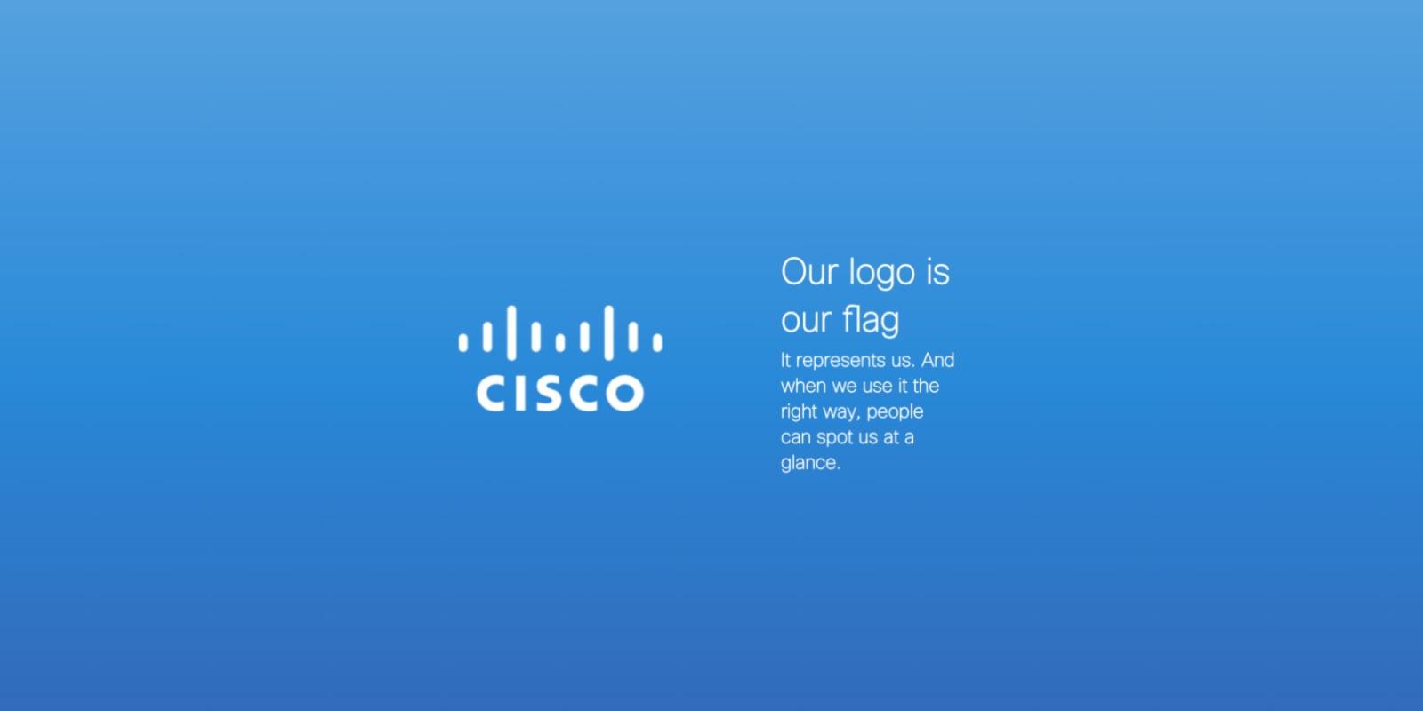 Cisco's interactive brand book