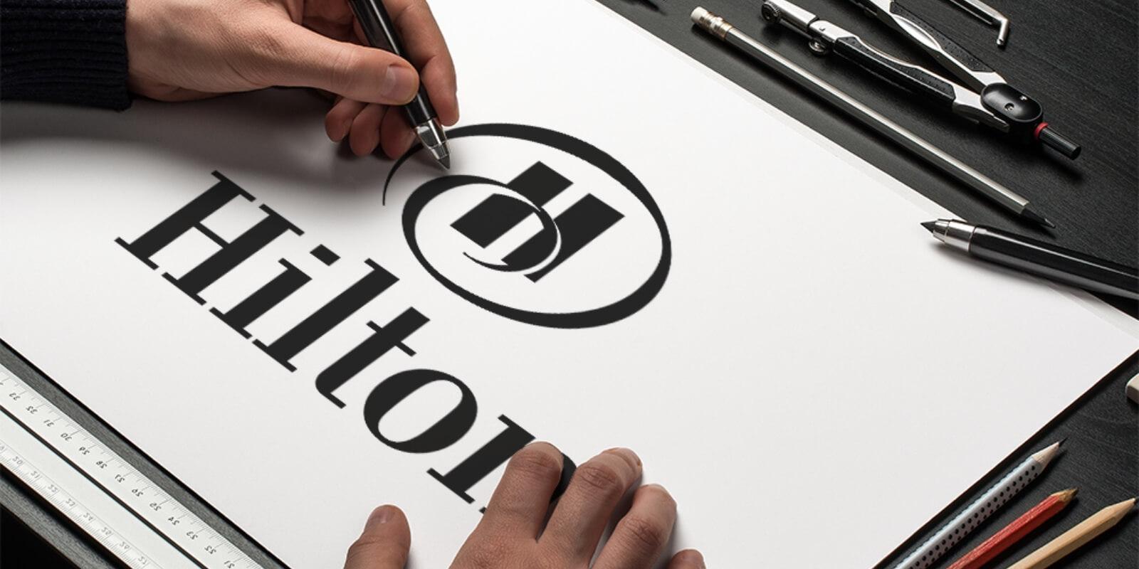 Hilton Hotel's logo design